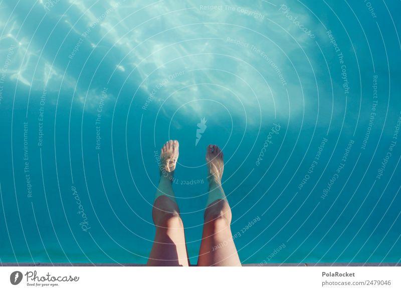 #A# Seele baumeln 1 Mensch ästhetisch sitzen Schwimmbad Erholung Erholungsgebiet Sommer Sommerurlaub sommerlich Wärme hitzefrei Sommerferien Sommertag Kühlung