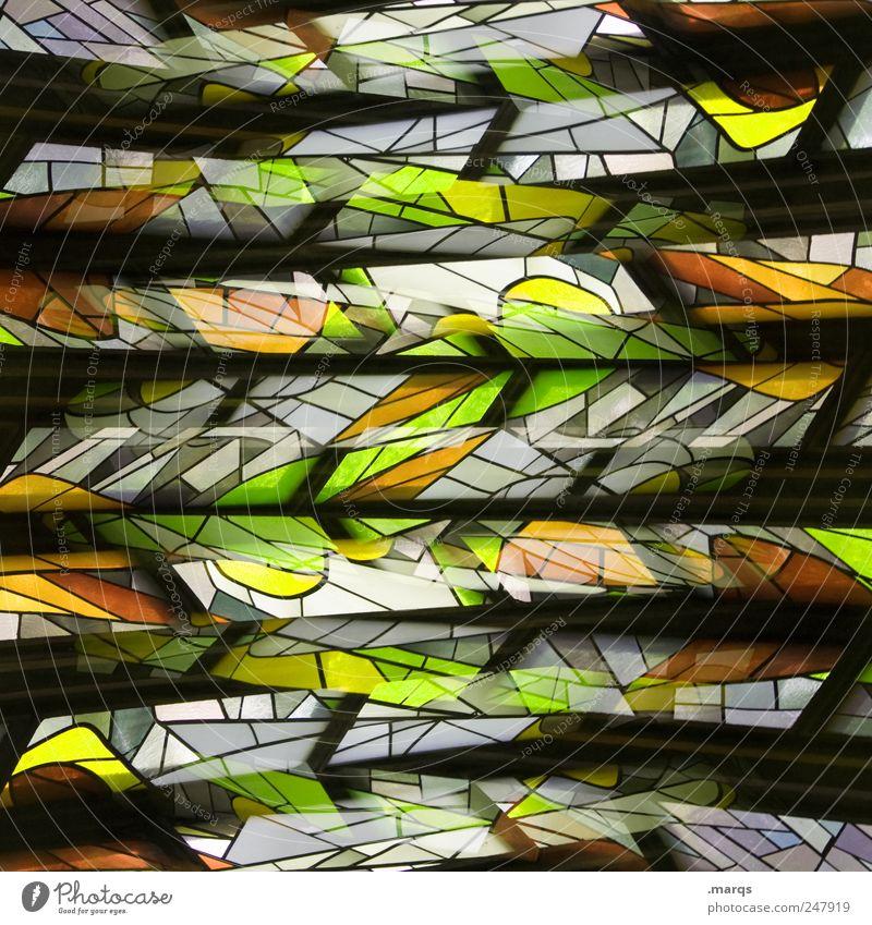 Cross Lifestyle Stil Design Kunst Fenster Glas Linie Streifen außergewöhnlich trendy einzigartig verrückt mehrfarbig chaotisch Surrealismus Kirchenfenster