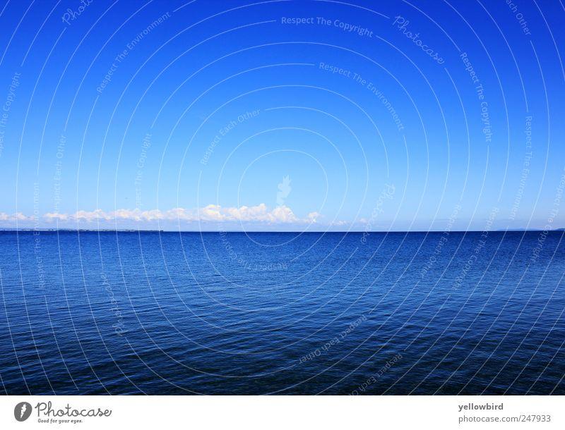 Das Meer. Himmel Wasser Sommer Ferien & Urlaub & Reisen Meer Ferne Landschaft Küste See Zufriedenheit rein Schönes Wetter Wohlgefühl harmonisch Sommerurlaub Wolkenloser Himmel