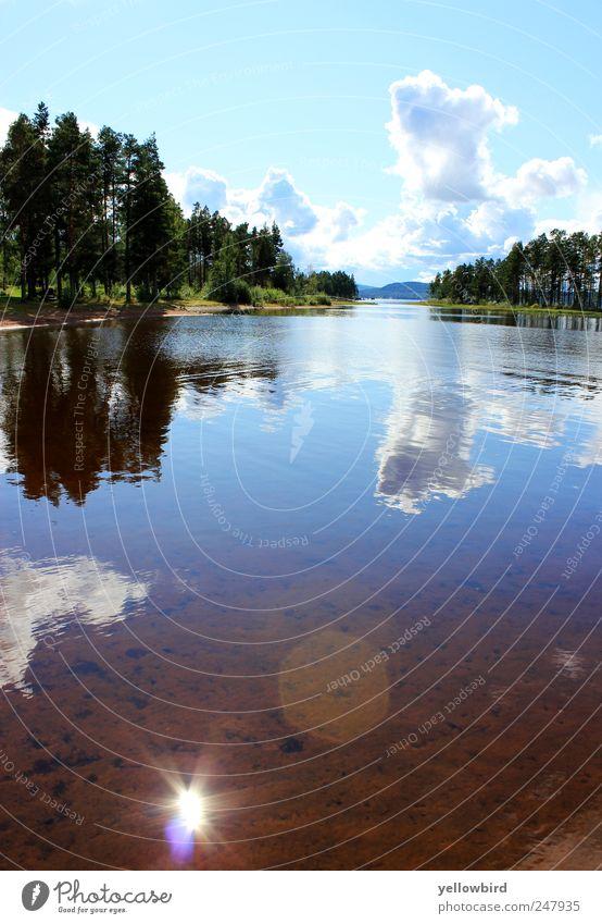 Die Sonne. Himmel Natur Ferien & Urlaub & Reisen blau grün Sommer Wasser Meer Landschaft Wolken Küste Glück See Ausflug Schönes Wetter