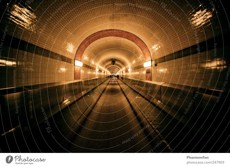 Elbtunnel dunkel Hamburg Bauwerk Tunnel Wahrzeichen Sehenswürdigkeit Hafenstadt Sankt Pauli-Elbtunnel