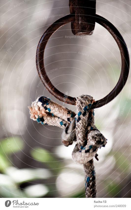 Knoten Seil Kirche Dekoration & Verzierung Metall berühren fangen hängen ästhetisch fest stark Kraft Vertrauen Sicherheit Schutz Verantwortung vernünftig Glaube