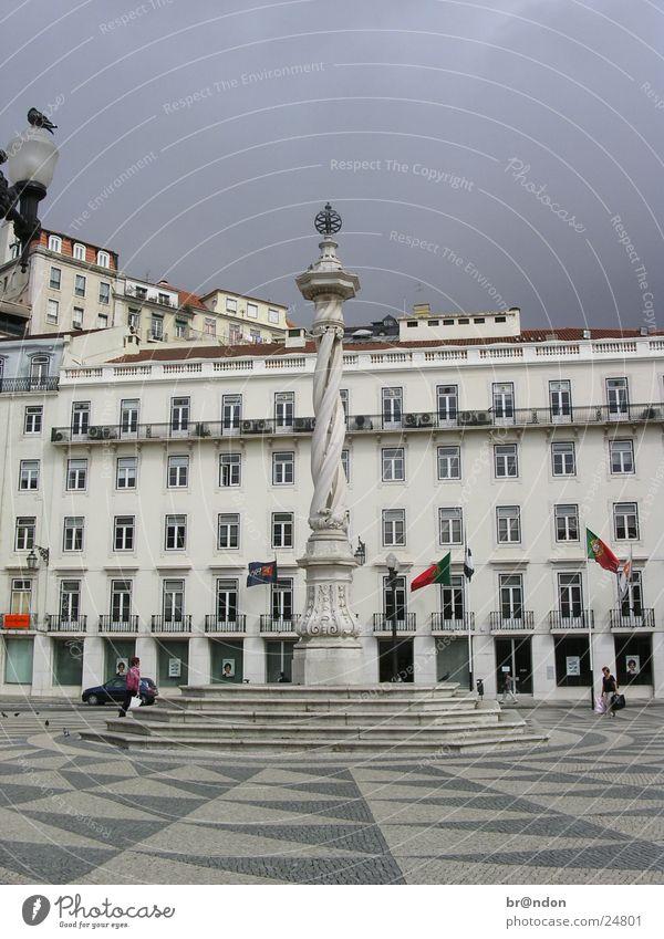 Lissabon Architektur Statue Wahrzeichen