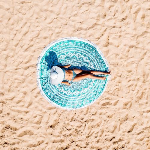 Frau Mensch Natur Ferien & Urlaub & Reisen Jugendliche Sommer blau schön Sonne Landschaft Meer Erholung Strand 18-30 Jahre Erwachsene Lifestyle