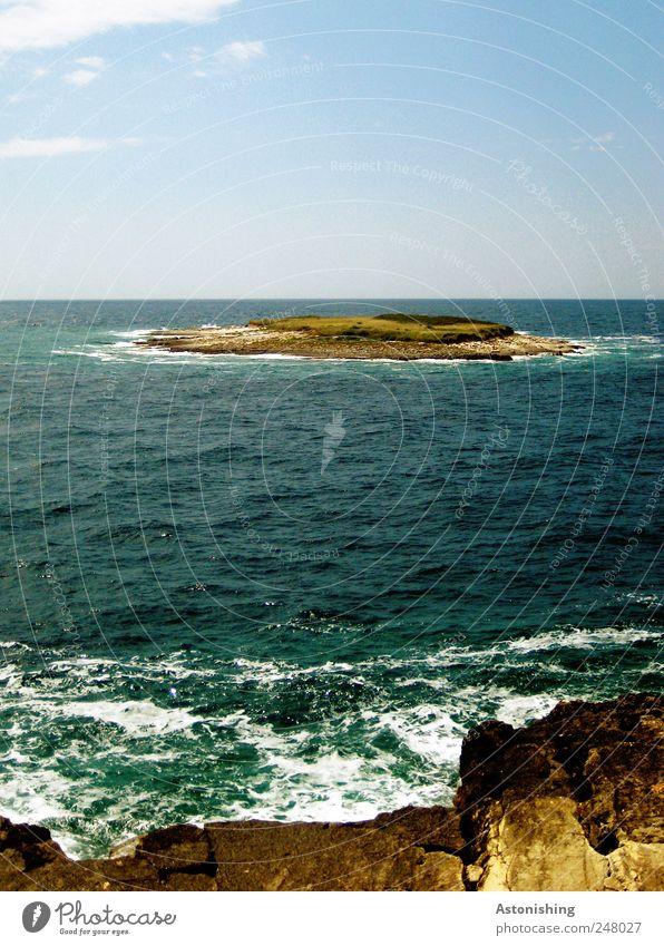Insel Himmel Natur Wasser blau weiß Pflanze Sommer Ferien & Urlaub & Reisen Meer Wolken Umwelt Landschaft Gras Sand Küste klein