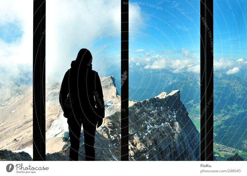 Über den Dingen stehen... Mensch Himmel Natur Sommer Ferien & Urlaub & Reisen Wolken Ferne Freiheit Berge u. Gebirge Landschaft Erde Horizont Ausflug Abenteuer Felsen Tourismus