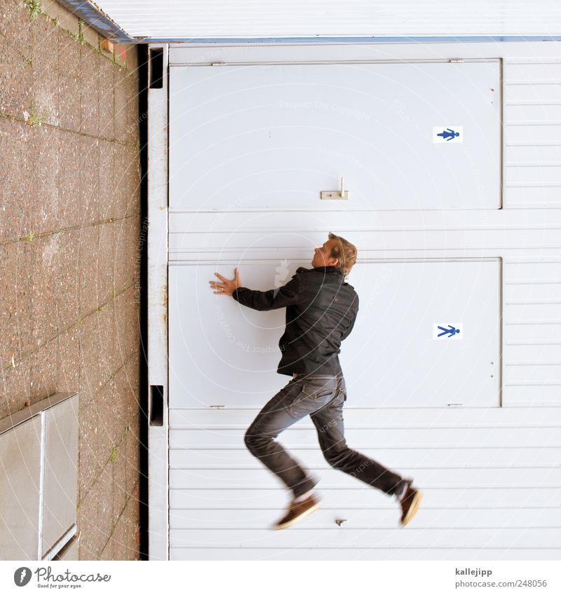 m/w maskulin Haus Jacke hell trendy Toilette Öffentliche Toilette Piktogramm Tür Stuhlgang urinieren Luftaufnahme Unterwasseraufnahme Polaroid