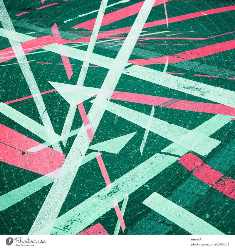 1.000 ways alt Farbe Straße Stein Linie Schilder & Markierungen Beton Ordnung modern Verkehr Schriftzeichen Zukunft authentisch Streifen einzigartig einfach