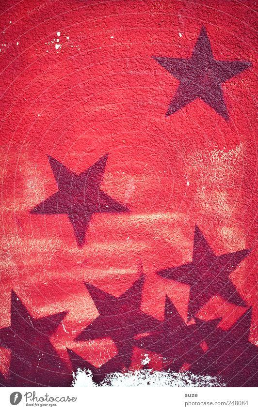 wall of fame schön rot Graffiti Wand Mauer Hintergrundbild Fassade Erfolg Fröhlichkeit Stern (Symbol) Freundlichkeit Zeichen trashig Comic Straßenkunst bemalt