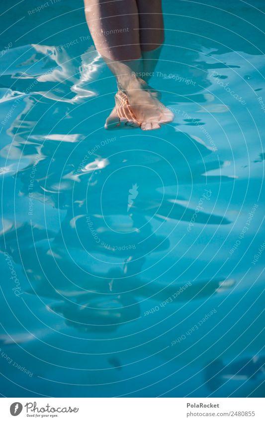 #A# Barfuß im Pool Mensch Ferien & Urlaub & Reisen Sommer blau Erholung ästhetisch Idylle Sommerurlaub Schwimmbad Wasseroberfläche sommerlich Kühlung