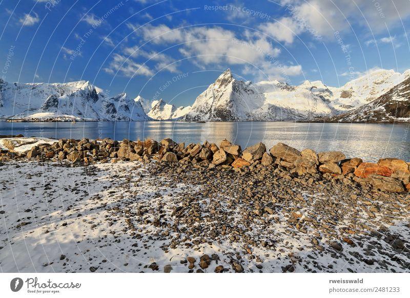 Himmel Natur Ferien & Urlaub & Reisen blau schön Farbe Wasser grün Landschaft Sonne weiß rot Erholung Einsamkeit Wolken ruhig