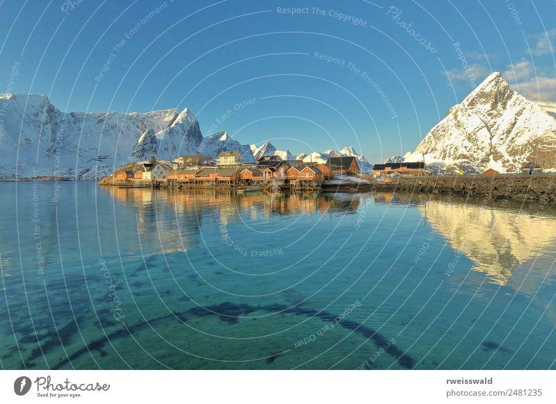 Himmel Natur Ferien & Urlaub & Reisen blau schön Farbe Wasser grün Landschaft Sonne weiß Erholung Haus Einsamkeit Wolken ruhig