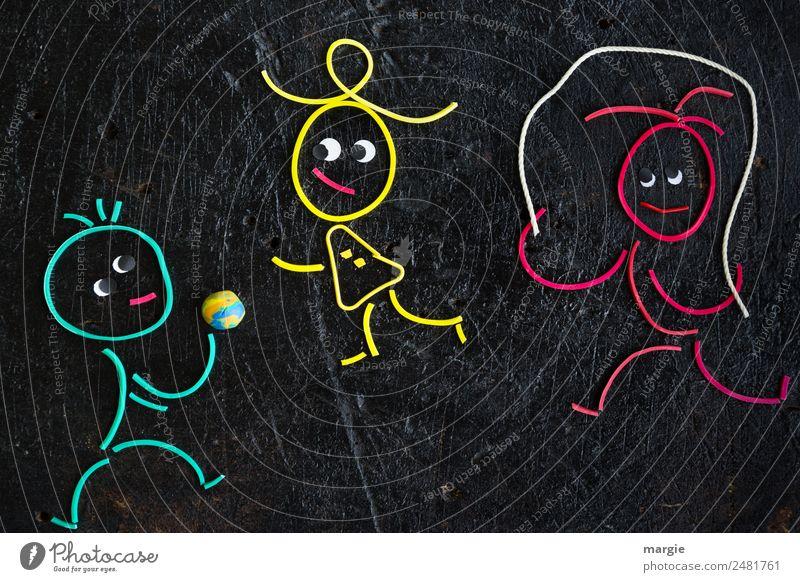 Gummiwürmer: Kinderspiele Freizeit & Hobby Spielen Sport Fitness Sport-Training Mensch maskulin feminin androgyn Kleinkind Mädchen Junge 3 braun gelb grün rot