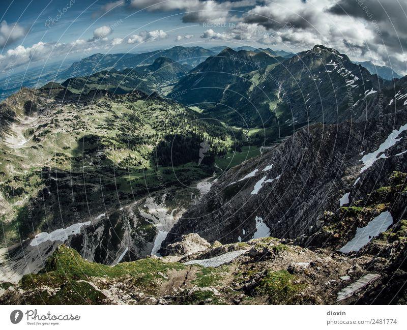 Blick vom Nebelhorn [1] Ferien & Urlaub & Reisen Tourismus Ausflug Ferne Berge u. Gebirge wandern Umwelt Natur Landschaft Himmel Wolken Sommer Schönes Wetter