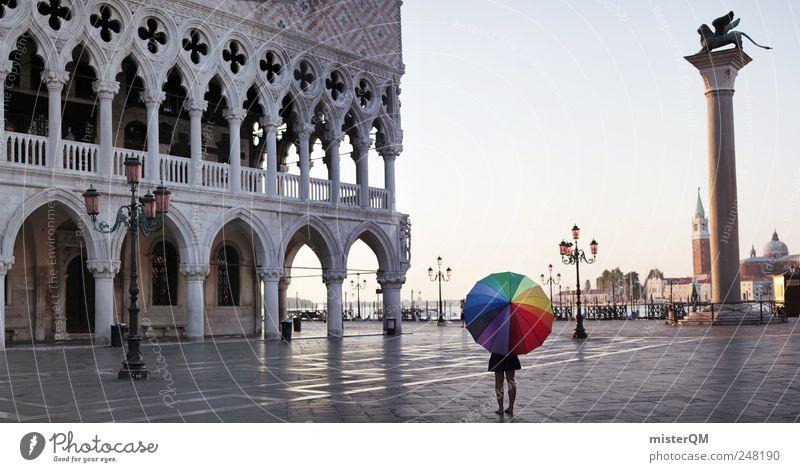 Let's Colour Venice III Ferien & Urlaub & Reisen Einsamkeit Ferne Farbe Stil Kunst elegant Design ästhetisch Lifestyle einzigartig Kultur Idylle Regenschirm Kreativität Vergangenheit