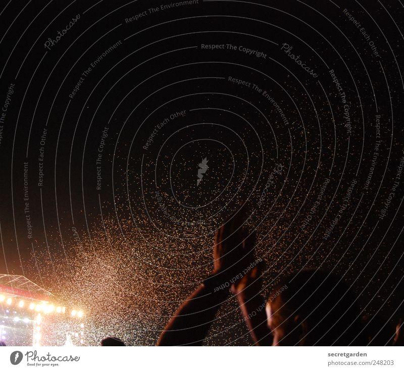 geld -äh- goldregen Mensch Hand Freude schwarz Glück Musik Feste & Feiern Arme Tanzen Show Konzert Menschenmenge Lebensfreude Feuerwerk Bühne