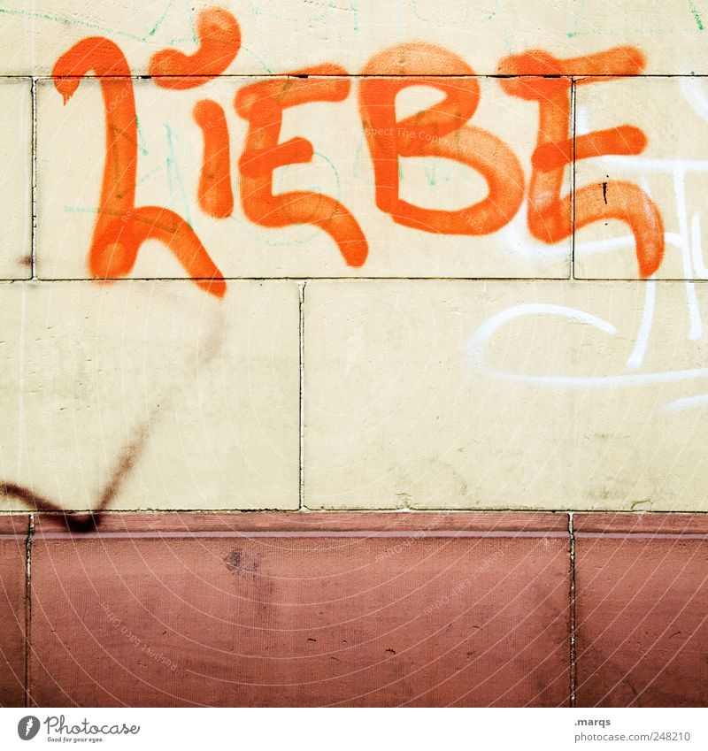 Allgegenwärtig schön Liebe Graffiti Wand Gefühle Mauer Zusammensein Schriftzeichen Romantik Verliebtheit Sympathie