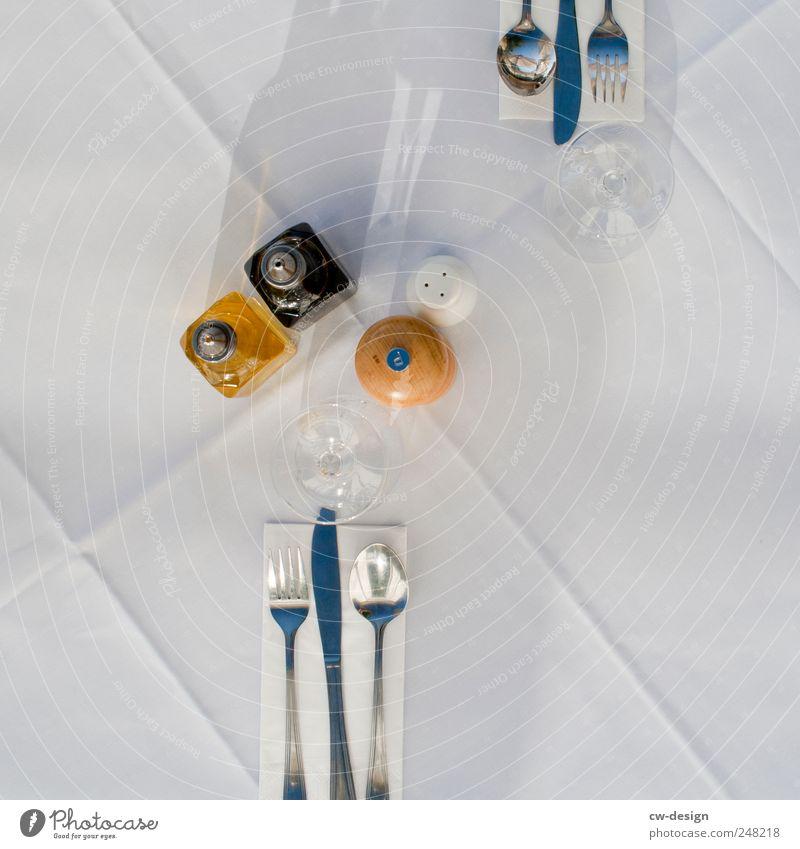 IN CHINA ESSEN SIE HUNDE Kräuter & Gewürze Öl Balsamico Aceto Balsamico Ernährung Mittagessen Abendessen Büffet Brunch Festessen Glas Besteck Messer Gabel