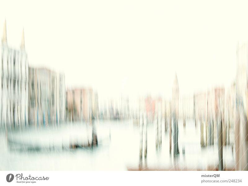 canal grande. Kunst Kunstwerk Gemälde ästhetisch elegant Venedig Italien Ferien & Urlaub & Reisen Urlaubsort Sehenswürdigkeit Canal Grande Gondel (Boot) Haus