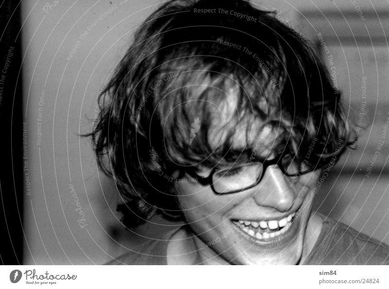 andy Mann lachen Haare & Frisuren Zähne Brille