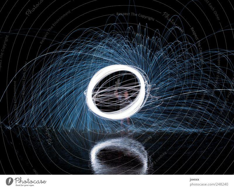 Deine Energie Wasser weiß blau schwarz hell glänzend rund drehen