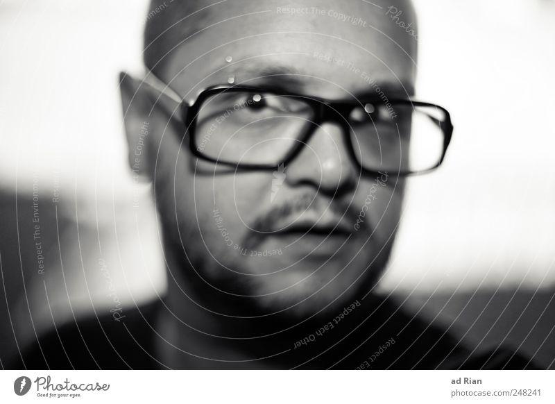 i'll try anything once Mensch Erwachsene Gesicht maskulin Brille Bart 30-45 Jahre verstört Brillenträger Junger Mann