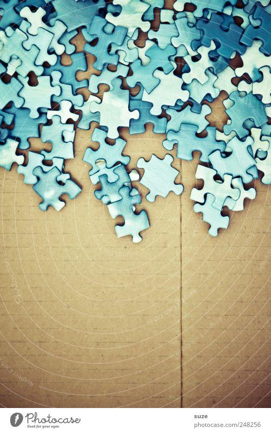 Himmelskörper blau Spielen klein Freizeit & Hobby Suche viele einfach Kreativität Spielzeug Teile u. Stücke Karton durcheinander Puzzle Papier Kinderspiel