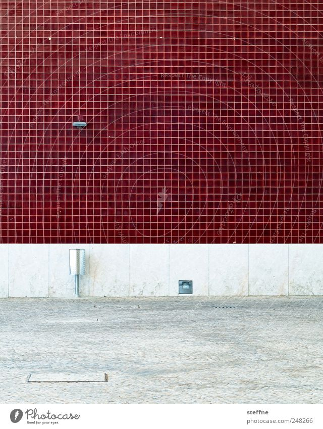 OPXE rot Haus Wand Mauer Fassade Fliesen u. Kacheln Aschenbecher Gebäude