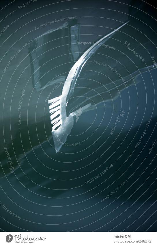 Gondola. Wasser Sommer Ferien & Urlaub & Reisen Wasserfahrzeug Kunst Tourismus ästhetisch Romantik Kitsch Italien Schifffahrt Sehenswürdigkeit Venedig Kunstwerk Schiffsbug kultig