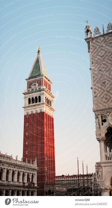 Markusturm in XXL. rot Ferien & Urlaub & Reisen Architektur Kunst hoch Turm Italien Karneval Reichtum Backstein Aussicht Vergangenheit vertikal Sehenswürdigkeit