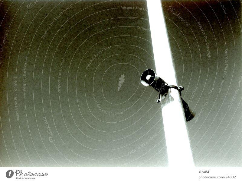 speaker Lautsprecher Laternenpfahl Megaphon Elektrisches Gerät Technik & Technologie Gegensprechanlage