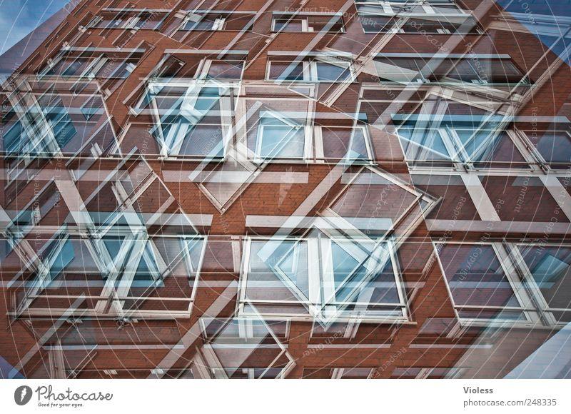 Fenster zum Hof Gebäude Fassade Häusliches Leben