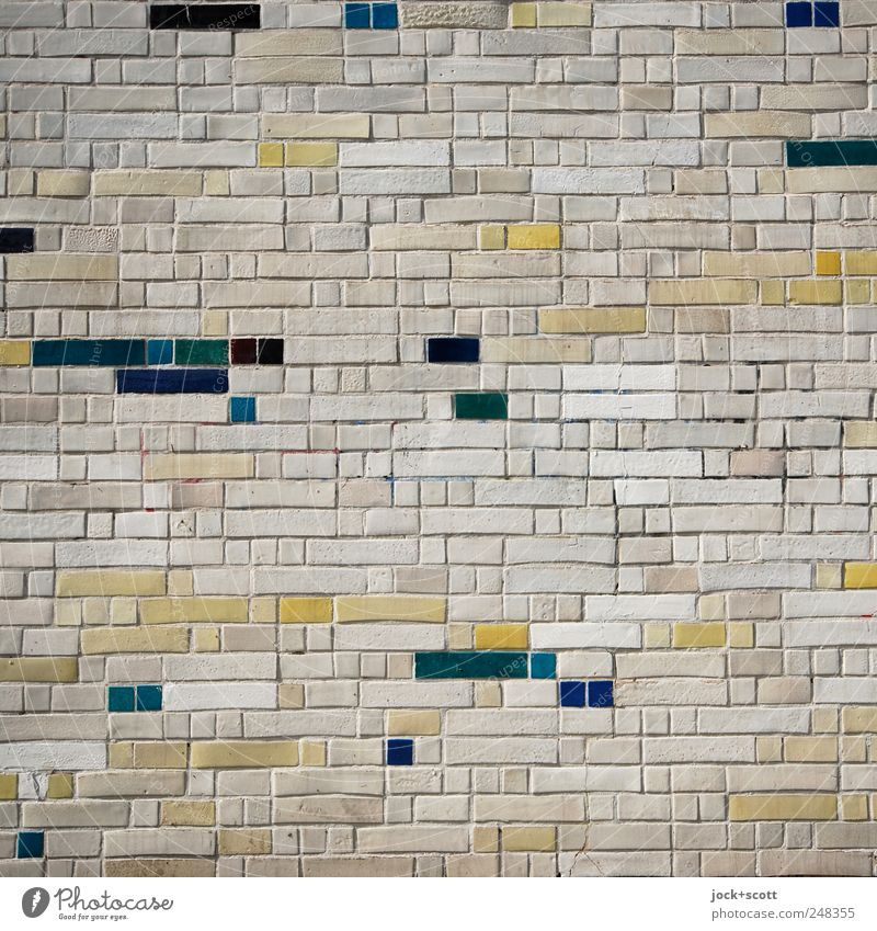 M.Deluxe Farbe Stein Linie Ordnung elegant Dekoration & Verzierung ästhetisch einzigartig Kultur Sicherheit historisch fest Zusammenhalt Quadrat eckig DDR