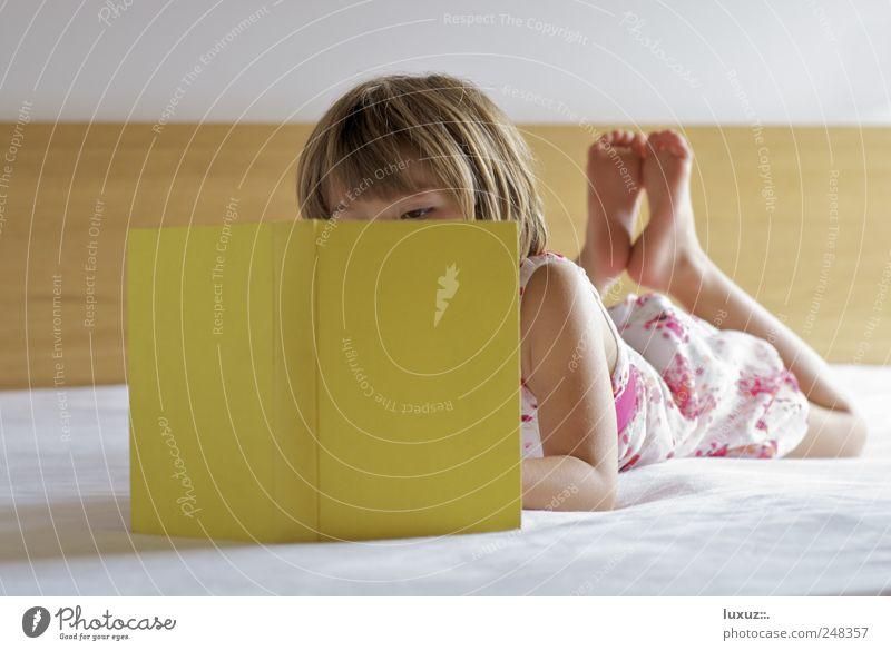 Leseabenteuer ruhig Buch Wohnung Freizeit & Hobby schlafen lernen Lifestyle Bett lesen Kleid Bildung entdecken genießen Wissen Schlafzimmer Leser