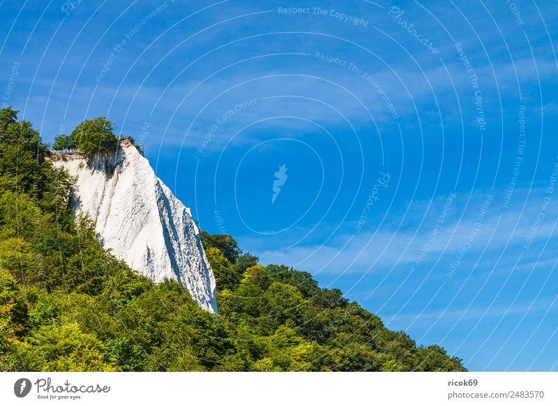Der Königsstuhl auf der Insel Rügen Erholung Ferien & Urlaub & Reisen Tourismus Meer Natur Landschaft Wolken Baum Felsen Küste Ostsee Sehenswürdigkeit Stein