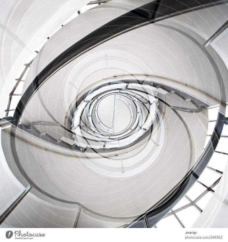 Eye Stil elegant hoch Design verrückt ästhetisch modern Perspektive Zukunft rund einzigartig Innenarchitektur außergewöhnlich Doppelbelichtung Verzweiflung Treppengeländer