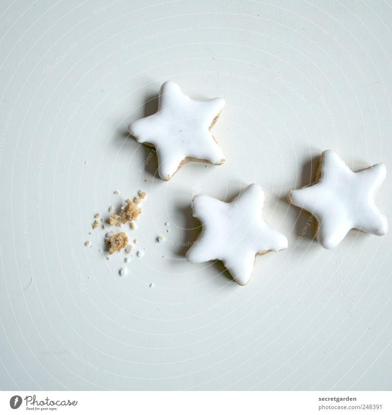 sternbild Weihnachten & Advent weiß Lebensmittel braun hell Ernährung Stern (Symbol) Vergangenheit lecker Süßwaren Appetit & Hunger Kuchen Backwaren Teigwaren Keks Plätzchen