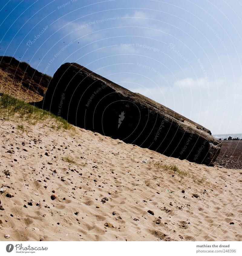 DÄNEMARK - XXXV Himmel Natur alt Pflanze Strand ruhig Einsamkeit Wand Umwelt Landschaft Gras Mauer Küste Gebäude Wellen Horizont