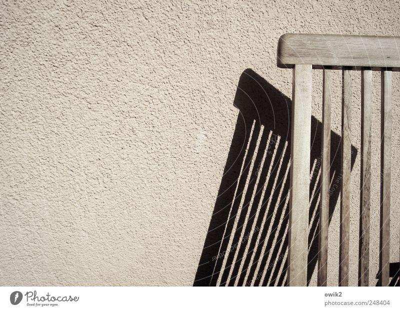 Sparsam leben ruhig schwarz Wand Mauer Holz grau hell rosa Freizeit & Hobby Ordnung trist Beton einfach Vergänglichkeit Pause Neigung