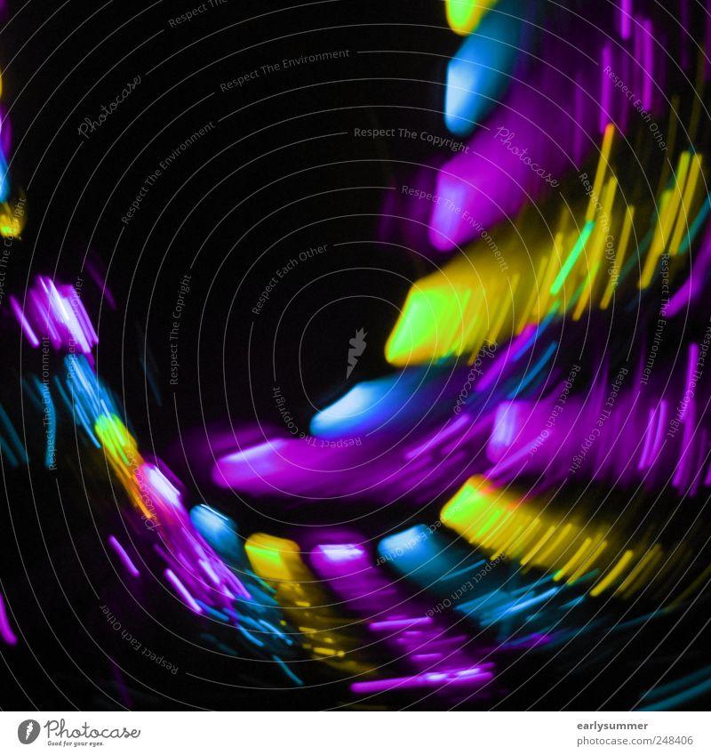 loop blau schwarz gelb Graffiti Feste & Feiern Linie leuchten Technik & Technologie Telekommunikation Streifen Zeichen violett Jahrmarkt Club Disco Diskjockey