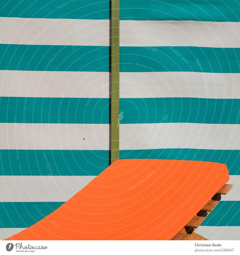 Strandgeometrie grün Sommer Ferien & Urlaub & Reisen Meer ruhig Ferne Erholung Freiheit orange Wellen Zufriedenheit Ausflug Schwimmen & Baden Tourismus Insel