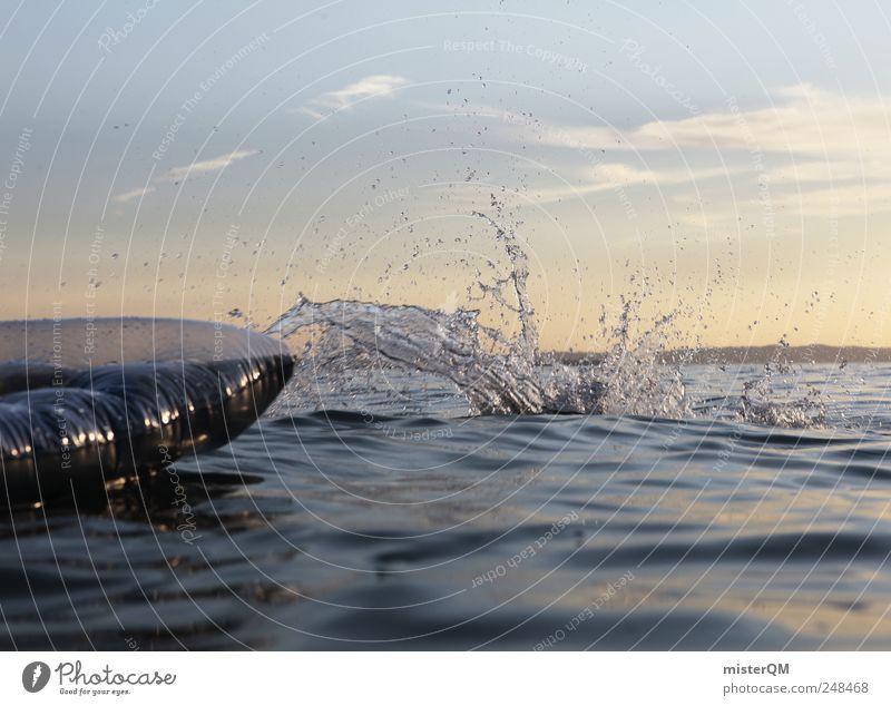 Platsch-Quatsch II Freizeit & Hobby Bewegung Sommer Sommerurlaub Sommerabend tauchen Freude spaßig platschen Luftmatratze Wasser Freibad See springen nass