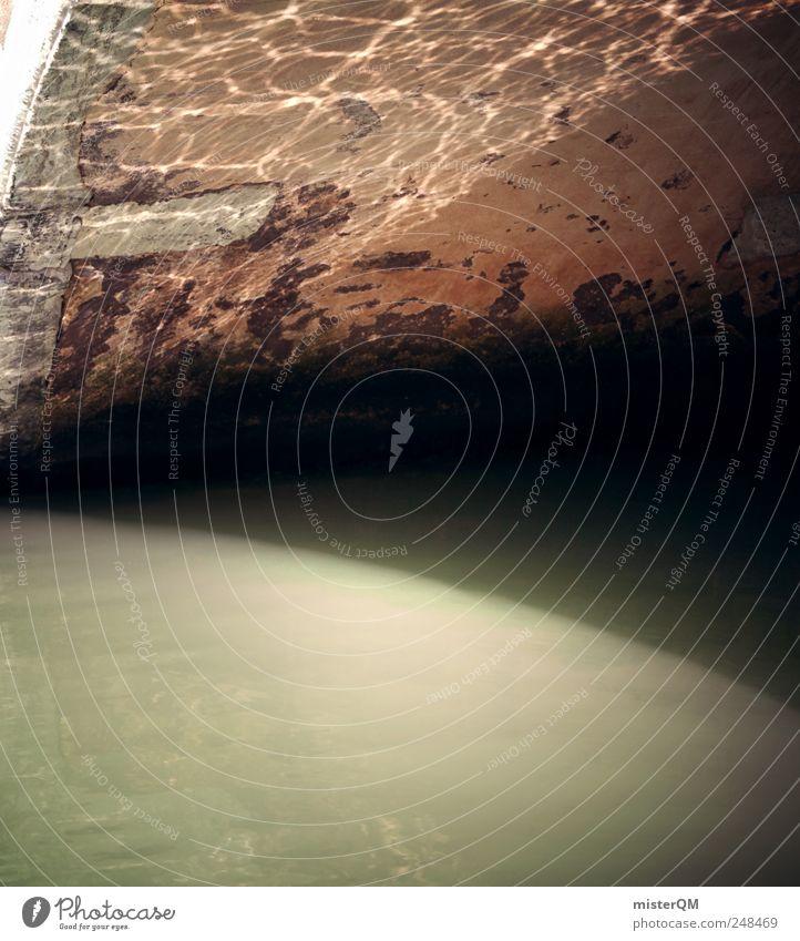 Bridge. Wasser Umwelt Wellen Fassade ästhetisch Brücke Fluss Italien Flussufer Symmetrie Lichtspiel Venedig Wasseroberfläche Wellengang Natur