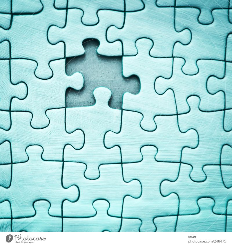 Loch im Himmel Freizeit & Hobby Spielen Kinderspiel Spielzeug einfach klein blau Problemlösung Ordnung Puzzle Suche Teile u. Stücke Vorderseite Karton fehlen