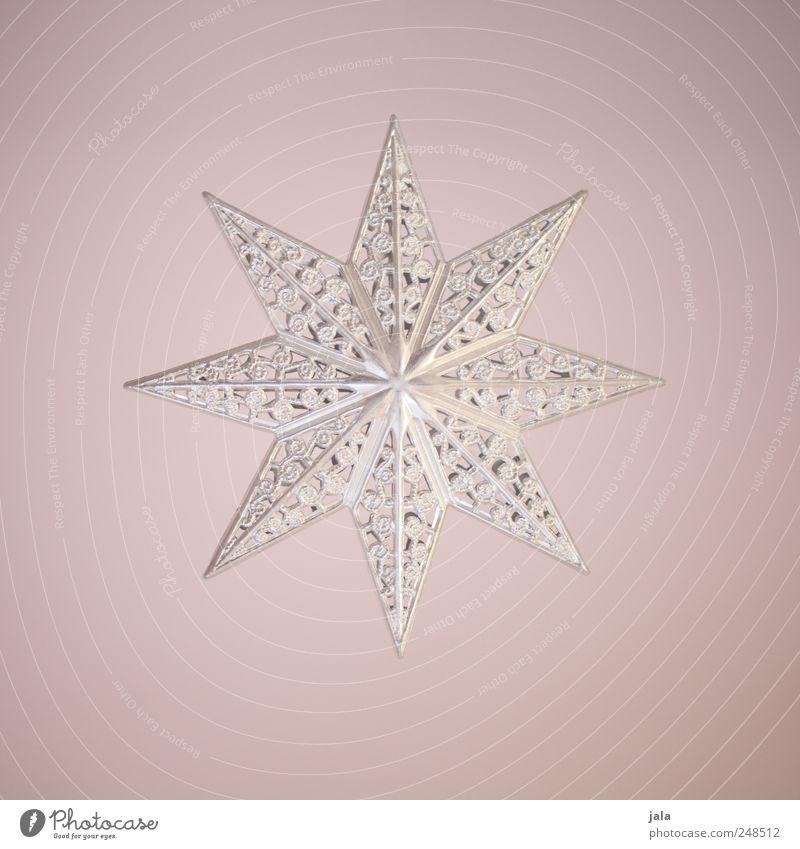 stern Weihnachten & Advent Metall rosa glänzend ästhetisch Stern (Symbol) Dekoration & Verzierung Kitsch silber Krimskrams