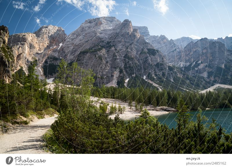 Natur pur Himmel Ferien & Urlaub & Reisen Sommer Landschaft Erholung ruhig Wald Berge u. Gebirge Wege & Pfade Tourismus See wandern Idylle Abenteuer