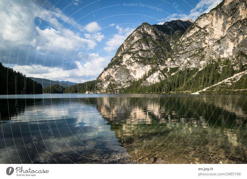 Die andere Seite Ferien & Urlaub & Reisen Sommerurlaub Berge u. Gebirge Natur Landschaft Wolken Felsen Alpen Dolomiten See Pragser Wildsee Italien Südtirol