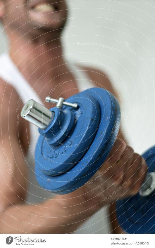 Popeye Mann Erwachsene Körper Kopf Brust Arme 1 Mensch T-Shirt Metall Fitness ästhetisch schön sportlich Mut Tatkraft Leidenschaft fleißig diszipliniert