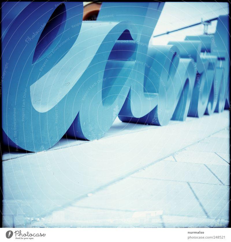 ecle Lifestyle Freizeit & Hobby Bildung Kunst Museum Skulptur Neue Medien Umwelt Stadtzentrum Menschenleer Zeichen Schriftzeichen Hinweisschild Warnschild