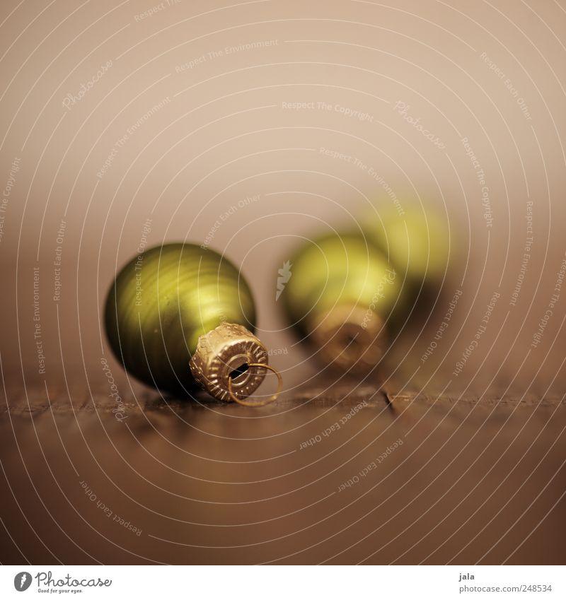 weihnachtsschmuck Weihnachten & Advent grün schön klein braun elegant gold ästhetisch Dekoration & Verzierung Kitsch Christbaumkugel Weihnachtsdekoration Krimskrams